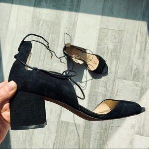 Sam Edelman SERENE Laced piptoe chunky heel sandal